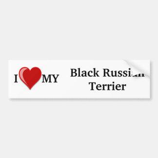 I Love (Heart) My Black Russian Terrier Dog Bumper Sticker