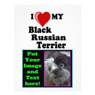 I Love (Heart) My Black Russian Terrier Dog Flyer