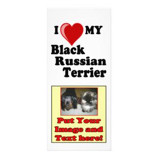 I Love Heart My Black Russian Terrier Dog Rack Card