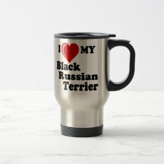I Love (Heart) My Black Russian Terrier Dog Travel Mug