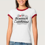 I Love (Heart) My Bluetick Coonhound Dog Lovers T-Shirt