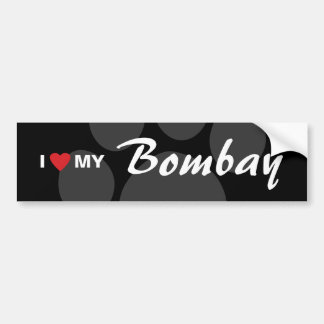 I Love (Heart) My Bombay Bumper Sticker