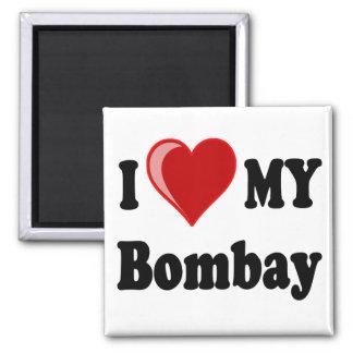 I Love (Heart) My Bombay Cat Magnet