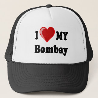 I Love (Heart) My Bombay Cat Trucker Hat
