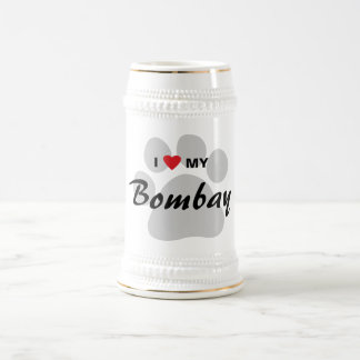 I Love (Heart) My Bombay Pawprint Coffee Mug
