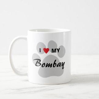 I Love (Heart) My Bombay Pawprint Coffee Mugs