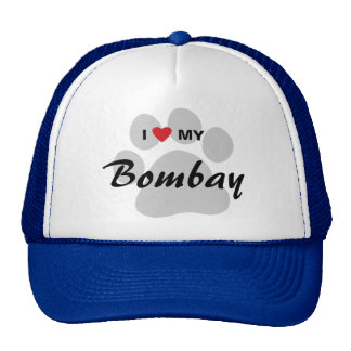 I Love (Heart) My Bombay Pawprint Trucker Hat