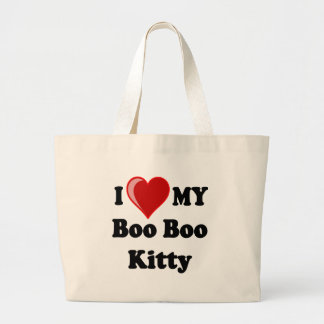 I Love (Heart) My Boo Boo Kitty Cat Bags