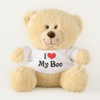 I Love Heart My Boo Teddy Bear