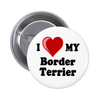 I Love (Heart) My Border Terrier Dog Pins