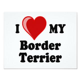 I Love (Heart) My Border Terrier Dog Personalized Invitation