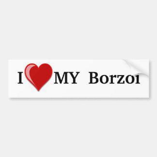 I Love (Heart) My Borzoi Dog Bumper Sticker