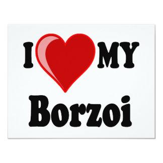 I Love (Heart) My Borzoi Dog Card
