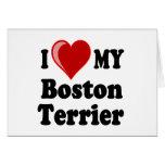 I Love (Heart) My Boston Terrier Dog Cards