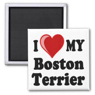 I Love (Heart) My Boston Terrier Dog Magnet