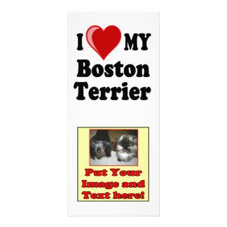 I Love Heart My Boston Terrier Dog Rack Card Template