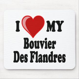 I Love (Heart) My Bouvier des Flanders Dog Mouse Pad
