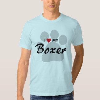 I Love (Heart) My Boxer Dog Lovers Shirt
