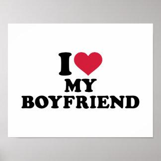 I love heart my boyfriend poster
