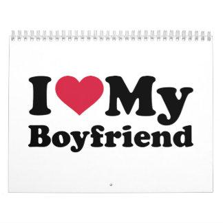 I love heart my boyfriend calendar