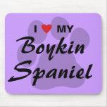 I Love (Heart) My Boykin Spaniel Mousepad