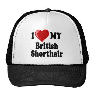 I Love (Heart) My British Shorthair Cat Mesh Hats