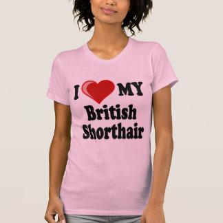I Love (Heart) My British Shorthair Cat Shirt