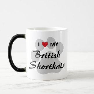 I Love (Heart) My British Shorthair Coffee Mugs