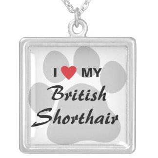 I Love (Heart) My British Shorthair Necklace
