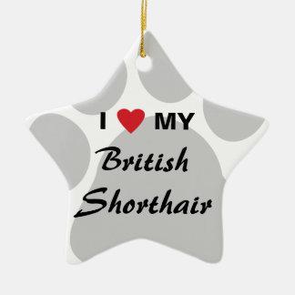 I Love (Heart) My British Shorthair Ornament