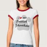 I Love (Heart) My British Shorthair T-Shirt