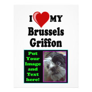 I Love (Heart) My Brussels Griffon Dog Flyer