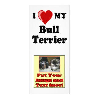 I Love Heart My Bull Terrier Dog Rack Card