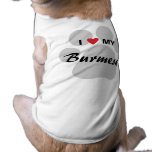I Love (Heart) My Burmese Pawprint T-Shirt