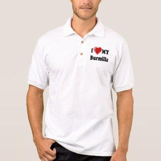 I Love (Heart) My Burmilla Cat Polo T-shirts