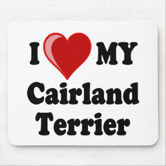 I Love (Heart) My Cairland Terrier Dog Mouse Pad