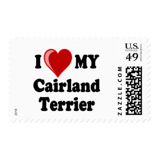 I Love (Heart) My Cairland Terrier Dog Postage