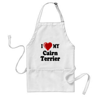 I Love (Heart) My Cairn Terrier Dog Adult Apron