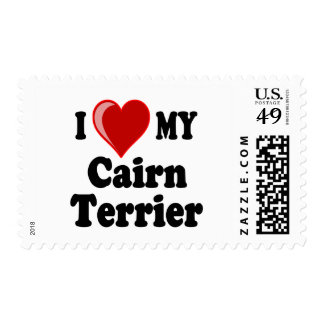 I Love (Heart) My Cairn Terrier Dog Postage