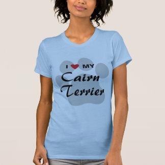 I Love (Heart) My Cairn Terrier Pawprint T-Shirt