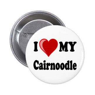 I Love (Heart) My Cairnoodle Dog 2 Inch Round Button