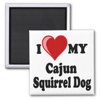I Love (Heart) My Cajun Squirrel Dog Fridge Magnet