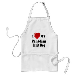 I Love (Heart) My Canadian Intuit Dog Adult Apron