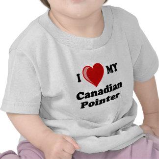 I Love Heart My Canadian Pointer Dog Shirts
