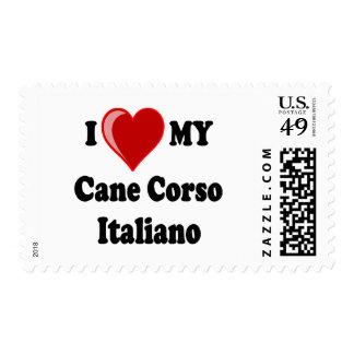 I Love (Heart) My Cane Corso Italiano Dog Postage