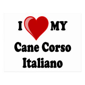 I Love (Heart) My Cane Corso Italiano Dog Postcard