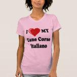 I Love (Heart) My Cane Corso Italiano Dog Shirt