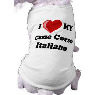 I Love (Heart) My Cane Corso Italiano Dog Shirt