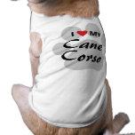 I Love (Heart) My Cane Corso Paw Print Tee