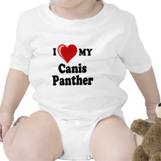 I Love Heart My Canis Panther Dog Shirts